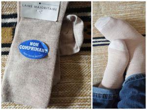 Chaussette laine confort et isolation thermique